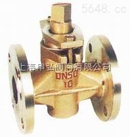 蒸汽三通铜旋塞阀X14T