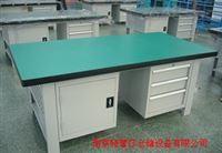 供应山东工作桌,钳工工作台,轻型背板带灯